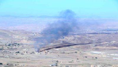 غارت للتحالف في نهم وصرواح تدمر آليات عسكرية لميلشيات الحوثي وصالح