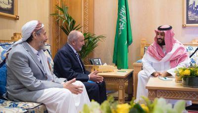 خلال لقاء ولي العهد السعودي بقيادات الإصلاح.. اليدومي يشيد بدعم المملكة للشرعية