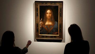 """""""لوحة المسيح"""" لدافينشي تباع بـ 450 مليون دولار في مزاد علني"""