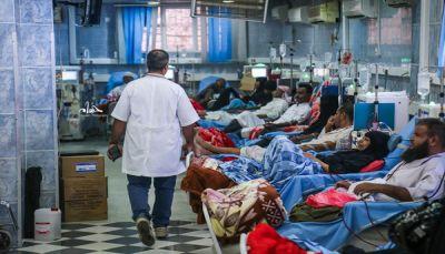 مستشفى الثورة بتعز يستغيث: المئات من مرضى الفشل الكلوي مهددون بالموت