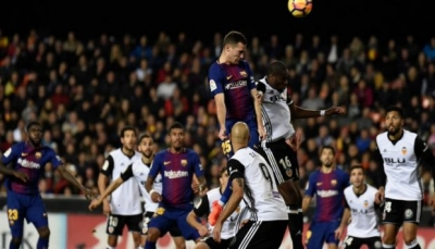 فالنسيا يقدم هدية لريال مدريد بإيقاف برشلونة