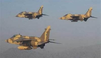 """البيضاء: مقاتلات التحالف العربي تستهدف مواقع الحوثيين في جبهة """"ناطع"""""""