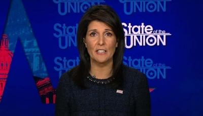 مندوبة أمريكا بمجلس الأمن تعقد اليوم مؤتمرا صحفيا حول دور إيران باليمن