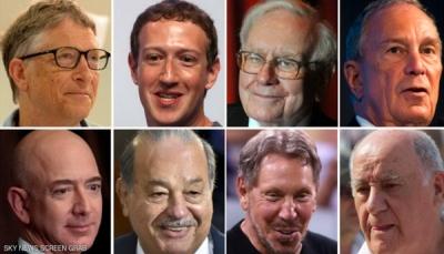 أضافوا 2.7 ملياري دولار يومياً لثروتهم خلال 2017، من هم؟
