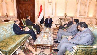 """الرئيس هادي يستقبل ولد الشيخ والأخير يستعرض نتائج زيارة نائبه الى """"صنعاء"""""""