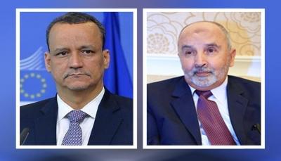 """في أول لقاء مع مسئول أممي... """"اليدومي"""" يبحث مع ولد الشيخ مستجدات الأوضاع في اليمن"""