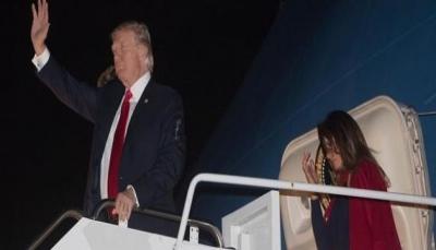 شاهد - ميلانيا تحرج ترامب مجدداً أمام وسائل الإعلام في مطار فلوريدا