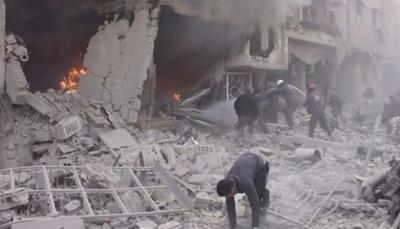 سوريا: 100 قتيل مدني حصيلة جديدة لقصف قوات النظام على الغوطة الشرقية