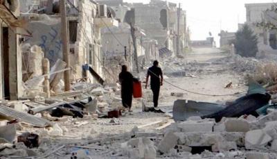 صواريخ وغارات جوية لقوات موالية للحكومة السورية على الغوطة الشرقية