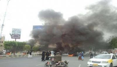 احتجاجاً على انعدام الغاز المنزلي.. مظاهرة غاضبة ضد الحوثيين وسط صنعاء