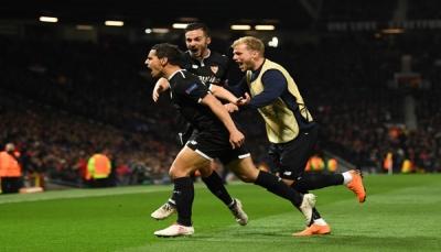 إشبيلية يقصي مانشستر يونايتد من دوري أبطال أوروبا