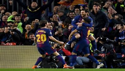 ميسي المتوهج يقود برشلونة لسحق تشيلسي وبلوغ ربع نهائي الأبطال