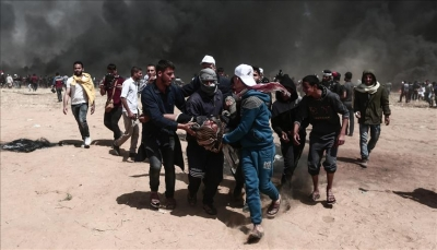 7 شهداء وأكثر من 1000 جريح برصاص قوات الاحتلال الإسرائيلي في غزة