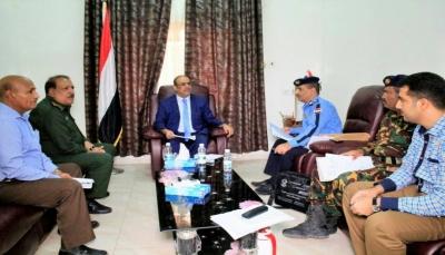 الميسري يناقش الترتيبات الجارية لتدشين فعاليات اسبوع المرور العربي في المحافظات المحررة