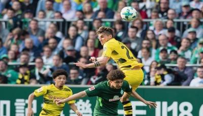 بوروسيا دورتموند يتعادل مع فيردر بريمن في الدوري الألماني