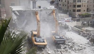 الاحتلال الإسرائيلي يهدم بناية سكنية في القدس الشرقية