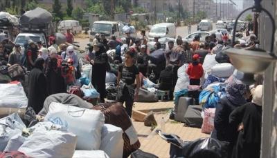 """سوريا: أول قافلة من مهجري حمص تصل مشارف """"الباب"""""""