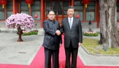 لقاء بين الرئيس الصيني والزعيم الكوري الشمالي قبل قمة كيم وترامب