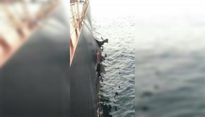 انفجار يلحق أضراراً بسفينة تركية تحمل  50 ألف من القمح قبالة ميناء الصليف