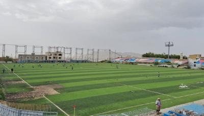 ملعب الشهداء بتعز يشهد أولى المباريات الرسمية بعد توقف ثلاث سنوات
