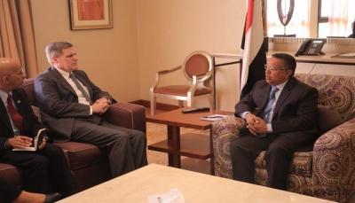 سفير أمريكا لدى اليمن يؤكد رفض بلاده تدخلات إيران ويشيد بدور الحكومة بمحاربة الإرهاب