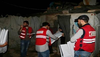 الهلال الأحمر القطري يغيث النازحين السوريين في عرسال