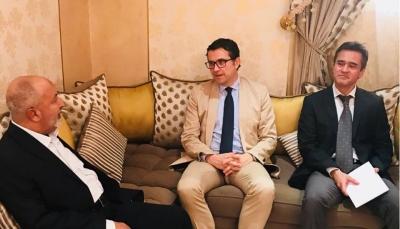 """""""اليدومي"""" يلتقي السفير التركي والأخير يجدد دعم بلاده لليمن حكومة وشعبا"""