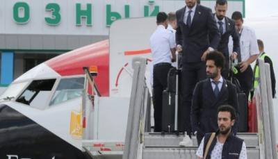 وصول المنتخب المصري ونجمه صلاح الى روسيا
