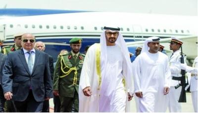 الرئيس هادي يصل الإمارات في زيارة رسمية.. ومحمد بن زايد في مقدمة مستقبلية