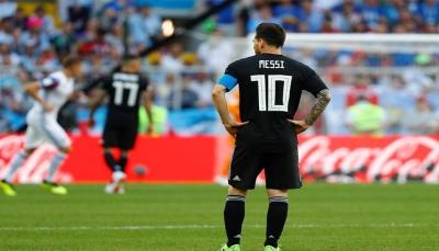 الأرجنتين تفشل في تجاوز أضعف فرق المجموعة الرابعة في مونديال روسيا 2018..