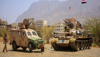 """تعز: الجيش يستعيد مواقع استراتيجية في مديرية """"البرح"""" غرب المحافظة"""