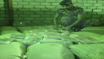 الأجهزة الأمنية بمأرب تضبط كمية جديدة من الحشيش كانت في طريقها للحوثيين