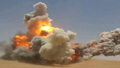 """شبوة: الجيش يُفجّر العشرات من الألغام التي زرعتها مليشيات الحوثي بـ""""عسيلان"""""""