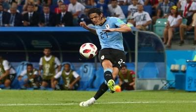 كافاني يقود أوروغواي لعبور البرتغال والتأهل لربع نهائي المونديال