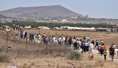 الاحتلال الاسرائيلي يهدد نازحين سوريين حاولوا الوصول لحدود الجولان