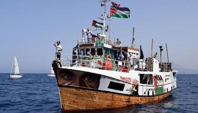 """""""أسطول الحرية"""" يواصل شق طريقه نحو غزة"""