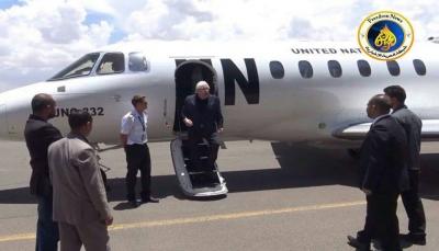 """""""غريفيث"""" في صنعاء في زيارته الثالثة خلال شهر لإنقاذ اتفاق الحديدة"""