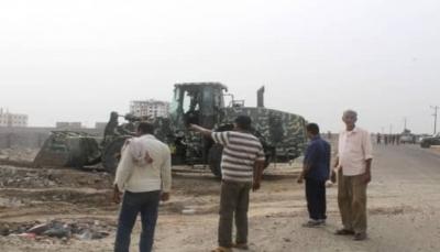 """الداخلية تستأنف حملة إزالة العشوائيات والبسط على الأراضي والممتلكات بـ""""عدن"""""""