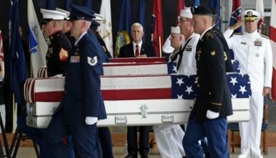 كوريا الشمالية تعيد رفات جنود أمريكيين بعد 65 عاما على انتهاء النزاع بين البلدين