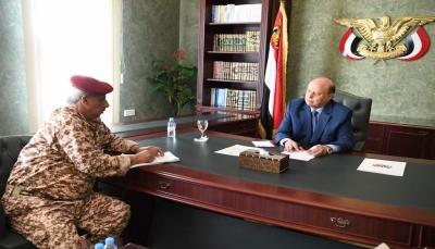 """الرئيس هادي يوجه بإعتماد جامعة """"لحج"""" ويدعو لتعزيز اليقظة الأمنية بالمحافظة"""