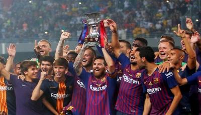 برشلونة يفوز بكأس السوبر الإسبانية بعد نهاية مثيرة بالمغرب