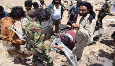 قوات الجيش تسقط طائرة مسيرة تابعة للمليشيا في نعمان بالبيضاء
