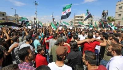 متظاهرون في إدلب يعولون على تركيا لمنع هجوم قوات النظام السوري