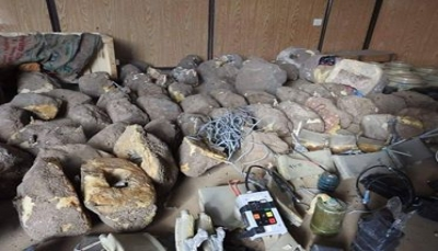 """صعدة: الجيش ينتزع أكثر من 400 لغم زرعتها ميلشيات الحوثي في """"باقم"""""""