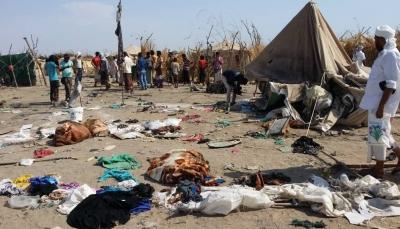 الحديدة: مقتل امرأتين وإصابة 13 آخرين في قصف مليشيا الحوثي لمخيم النازحين بالخوخة