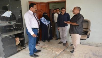 """عدن: الحكومة تبدأ عملية إعادة ترميم مبنى فرع وكالة الأنباء اليمنية """"سبأ"""""""