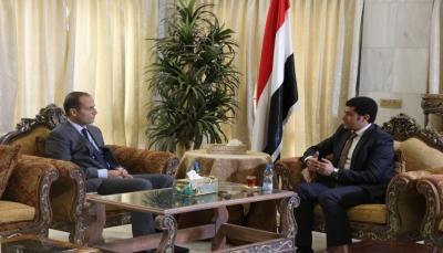 """الوزير """"الرعيني"""" يطلع السفير اللبناني على تجربة الحوار الوطني الشامل"""