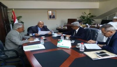 عدن: اجتماع موسع للجنة الوزارية الخاصة بمعالجة اثار إعصار (لبان)