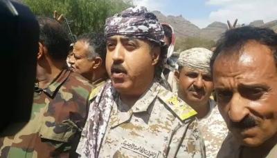 """محافظ إب يتفقد جبهة """"دمت"""" ويكشف عن إستعدادات للمرحلة الثانية من العملية العسكرية"""