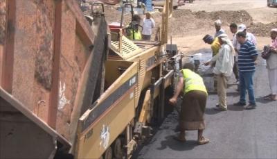 لحج: ترميم طريق الحبيلين - نوبة دكيم بطول 32 كيلومتر بدعم سعودي